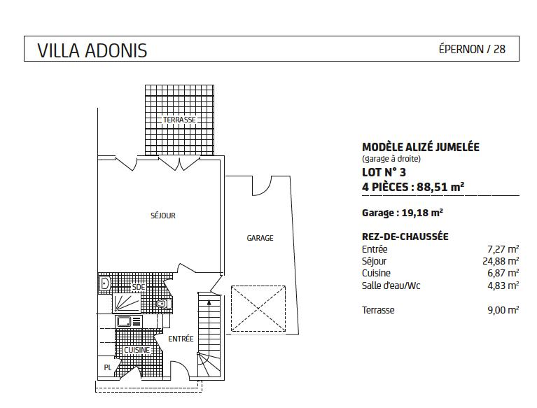 maison Alizé jumelée