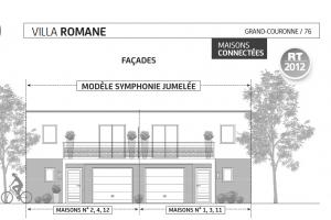 villa romane , modèle Symphonie jumelée, grand couronne, paris vendome patrimoine